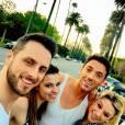 Danse avec les stars : Denitsa Ikonomov, Jade Geropp et Christian Millette et MAxime Dereymez à Los Angeles