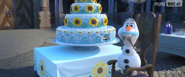 La Reine des neiges - une fête givrée : Olaf sur une photo