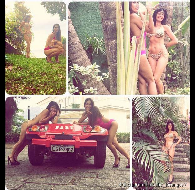 Somayeh et Nathalie (Les Anges 7) en bikini sur Instagram, le 16 mars 2015