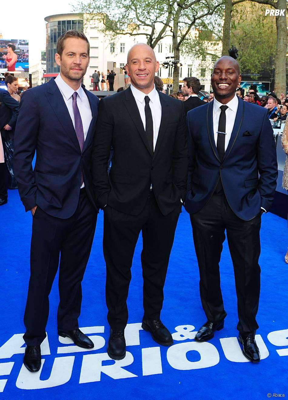 Paul Walker et Vin Diesel à l'avant-première de Fast and Furious 6, le 7 mai 2013
