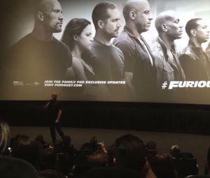Paul Walker : Vin Diesel ému à une avant-première américaine de Fast and Furious 7