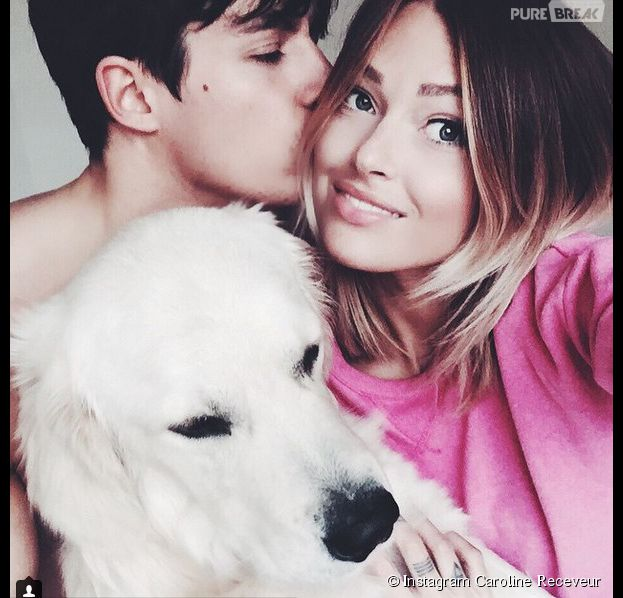 Caroline Receveur et Valentin Lucas : selfie romantique