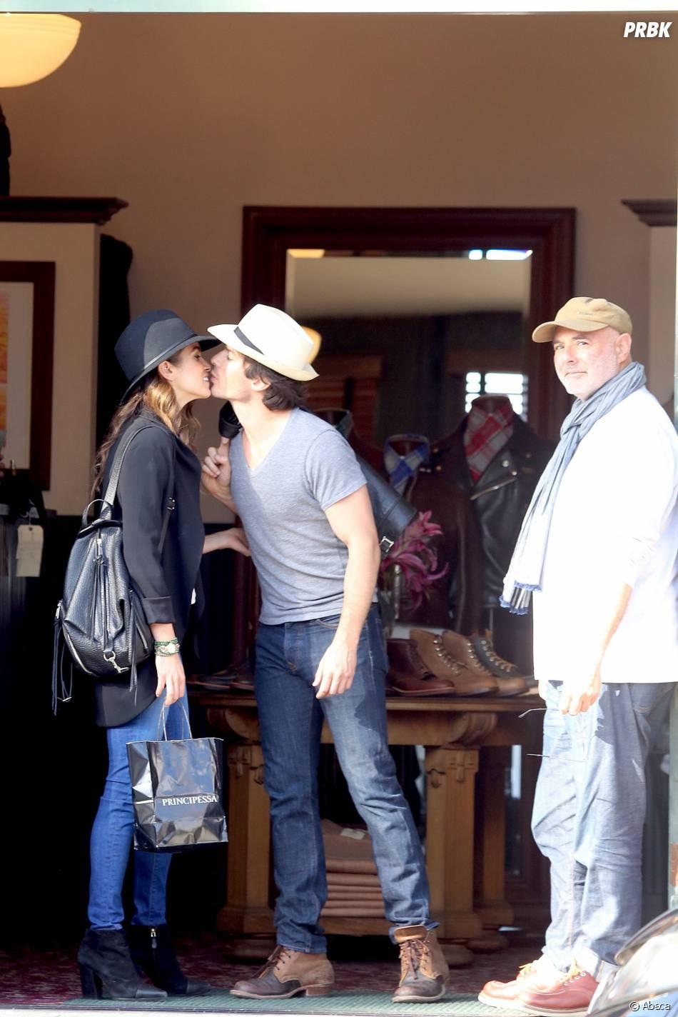 Ian Somerhalder et Nikki Reed : bisous en public à Los Angeles le 6 avril 2015