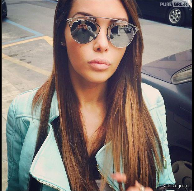 Nabilla Benattia accro aux nouvelles lunettes de soleil So Real de Dior, printemps-été 2015