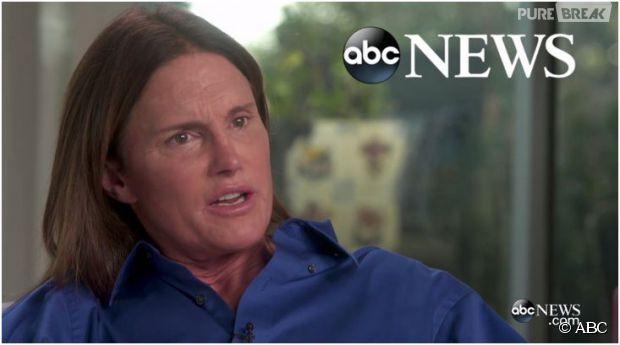 Bruce Jenner se confie sur son changement de sexe sur la chaîne ABC, le 24 avril 2015