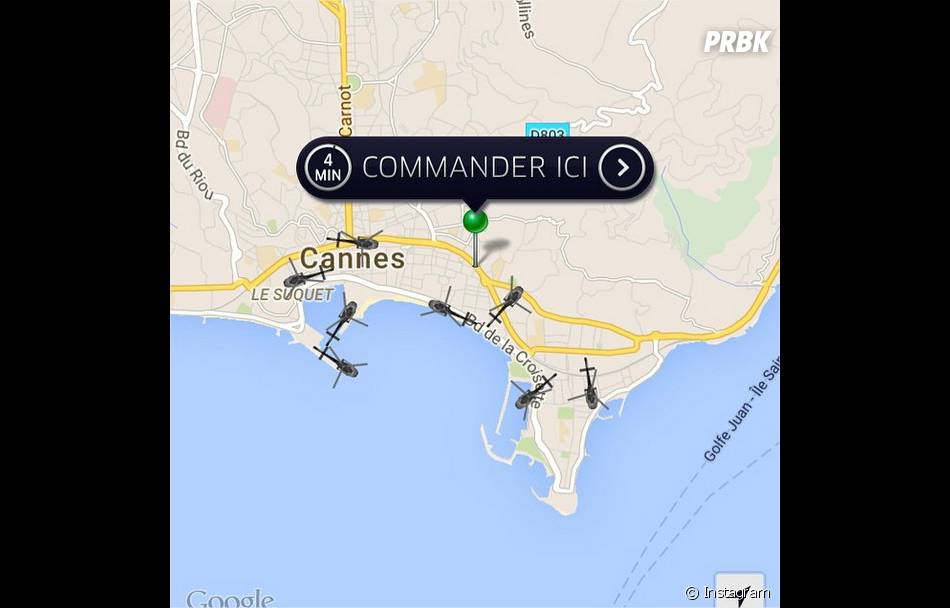 UberCopter, le moyen de transport so chic du Festival de Cannes 2015