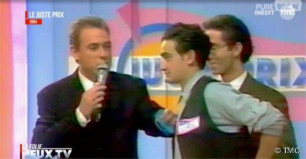 Cyril Hanouna lors de sa première apparition à la télévision dans Le Juste Prix dévoilée dans l'émission La folie des jeux télé sur TMC
