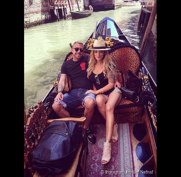 Emilie Nefnaf et Jérémy Ménez en vacances à Venise le 7 juin 2015
