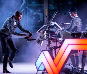 Stromae en concert à Las Vegas entre deux shows à Coachella, le 16 avril 2015