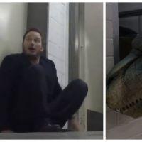 Jurassic World : Chris Pratt complètement flippé par une attaque de dinosaures en caméra cachée !