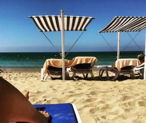 Ludivine Sagna en mode bronzette au Portugal
