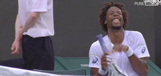 Gaël Monfils : fou-rire à Wimbledon lors d'un match contre Adrian Mannarino
