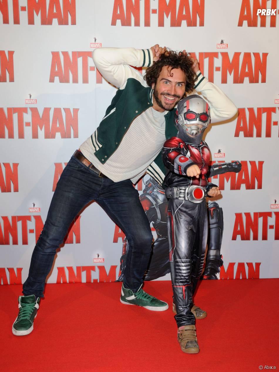 Maxime Musqua à l'avant-première d'Ant-Man au Grand Rex de Paris, le 9 juillet 2015