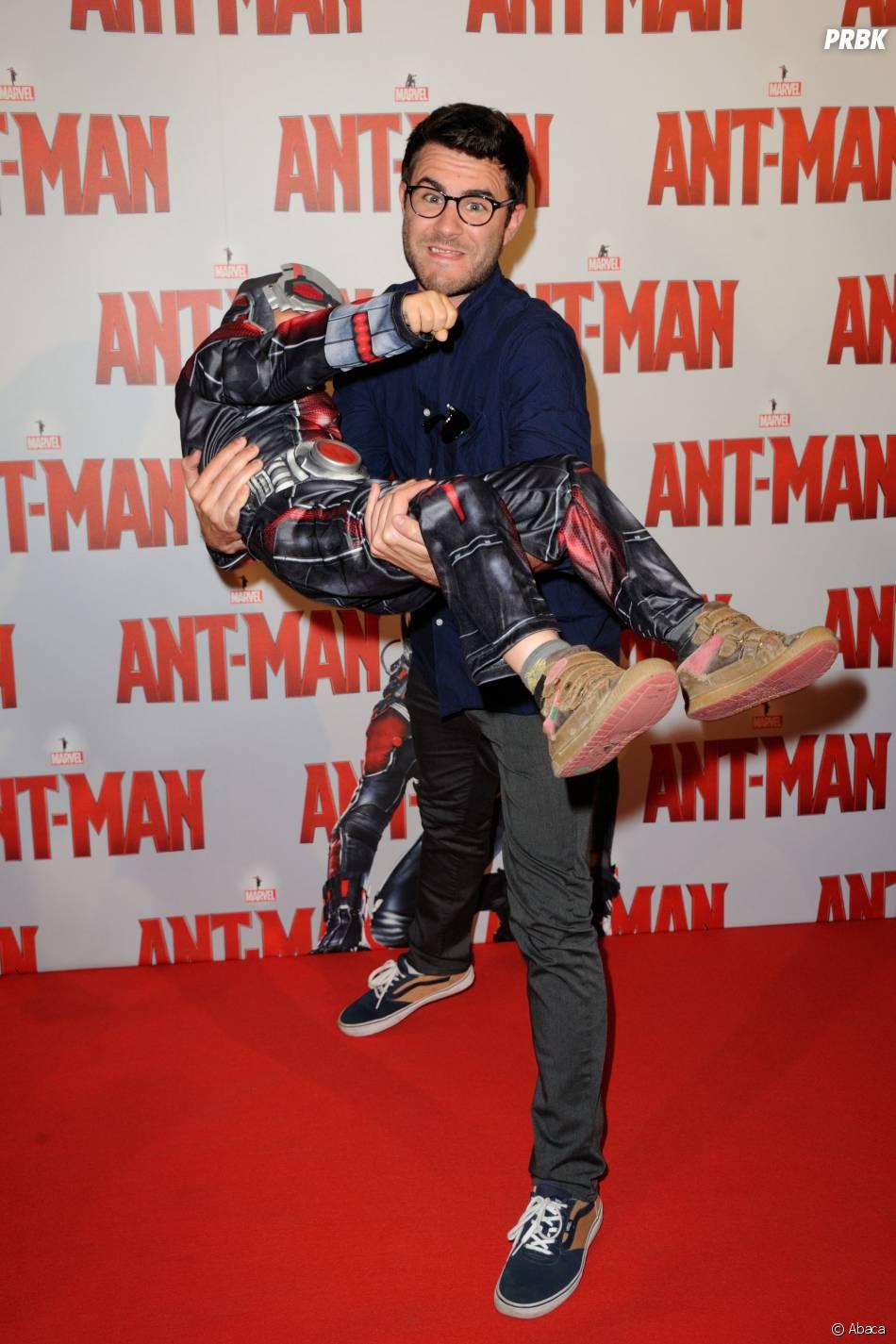 Cyprien à l'avant-première d'Ant-Man au Grand Rex de Paris, le 9 juillet 2015