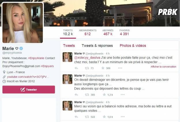 EnjoyPhoenix : coup de gueule sur Twitter après la diffusion de son adresse sur Twitter