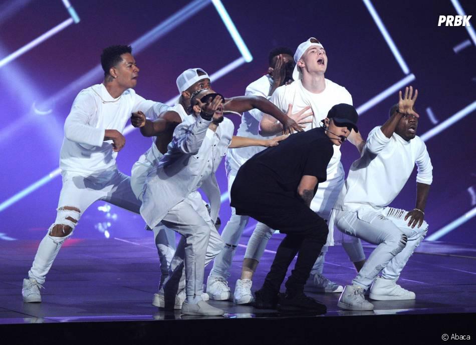 Justin Bieber sur la scène des aux MTV Video Music Awards 2015