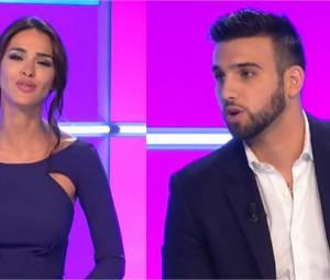 Leila Ben Khalifa et Aymeric Bonnery séparés : gros clash pour l'ex couple pendant le Débrief de Secret Story, le 31 août 2015 sur NT1