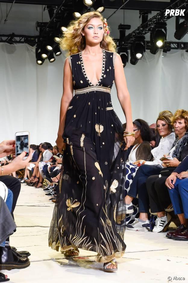 Gigi Hadid, mannequin du défilé Diane Von Furstenberg à New-York, le 14 septembre 2015