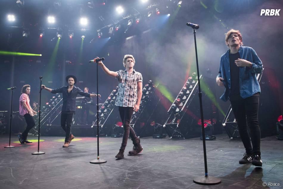 Niall Horan et les autres membres des One Direction lors de l'Apple Music Festival, le 22 septembre 2015