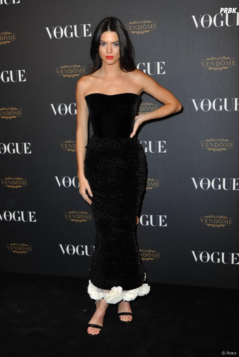 Kendal Jenner fête les 95 ans du magazine Vogue à Paris le 3 octobre 2015