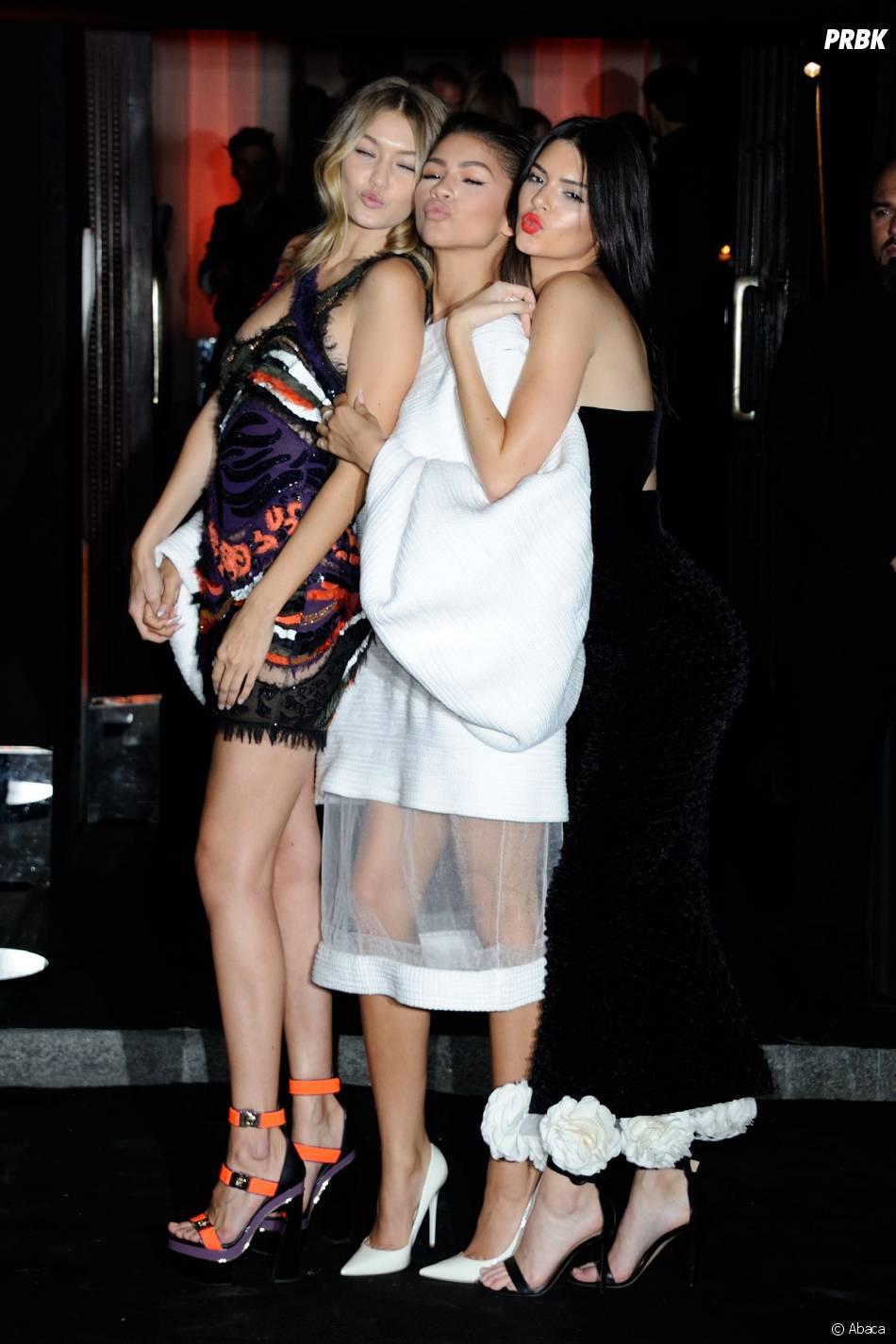 Gigi Hadid, Zendaya et Kendall Jenner fêtent les 95 ans du magazine Vogue à Paris le 3 octobre 2015
