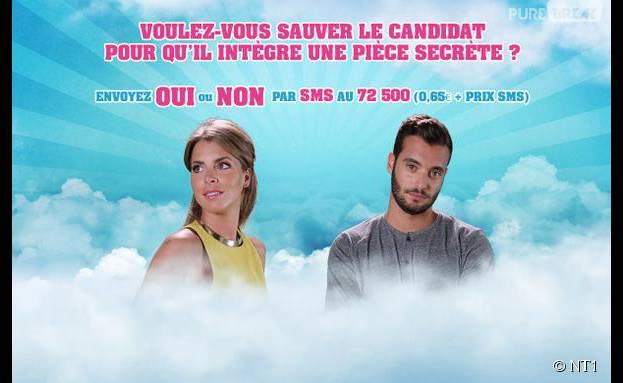 Emilie et Loïc nominés (Secret Story 9) dans l'épisode du 7 octobre 2015 sur NT1
