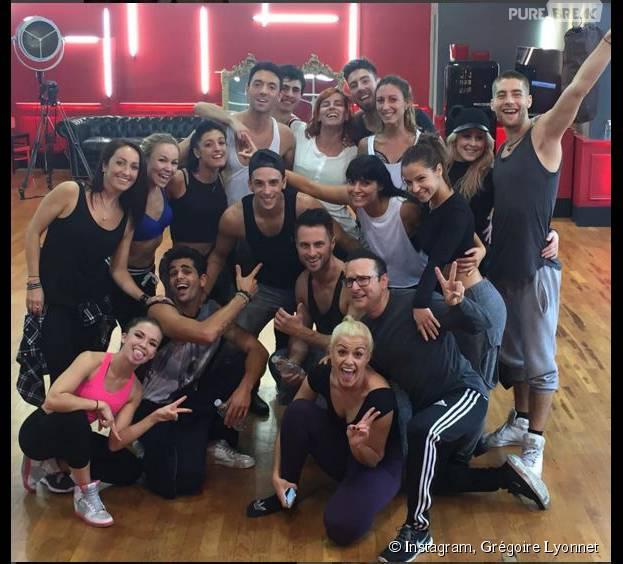 Grégoire Lyonnet pendant les répétitions de Danse avec les stars 6, le 22 octobre 2015 sur Instagram