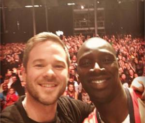 Omar Sy rejoint Shawn Ashmore au Comic Con Paris le 25 octobre 2015