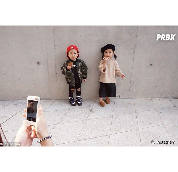 Seoul Fashion Week : les enfants hipsters stars des streetlooks, octobre 2015 à Seoul