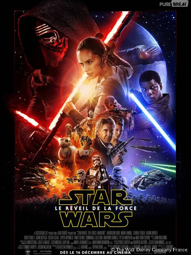 Star Wars, le réveil de la Force : l'affiche officielle du film, au cinéma le 16 décembre 2015