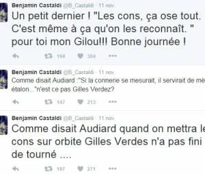 Benjamin Castaldi insulte Gilles Verdez sur Twitter