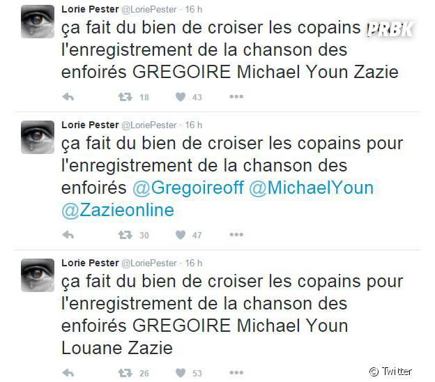 Lorie Pester annonce par erreur l'arrivée de Louane chez Les Enfoirés