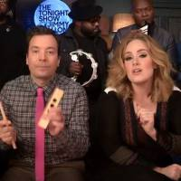 Adele : Hello, la version géniale avec Jimmy Fallon et des instruments pour enfants