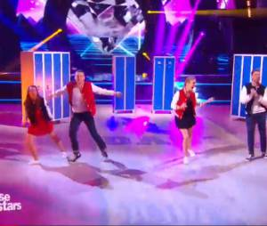 Priscilla Betti et Véronic Dicaire en duo sur un jive dans Danse avec les stars 6, le 5 décembre 2015 sur TF1