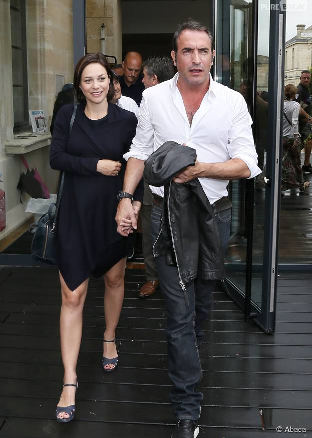 Jean dujardin et nathalie p chalat en couple lors de l for Jean dujardin parents