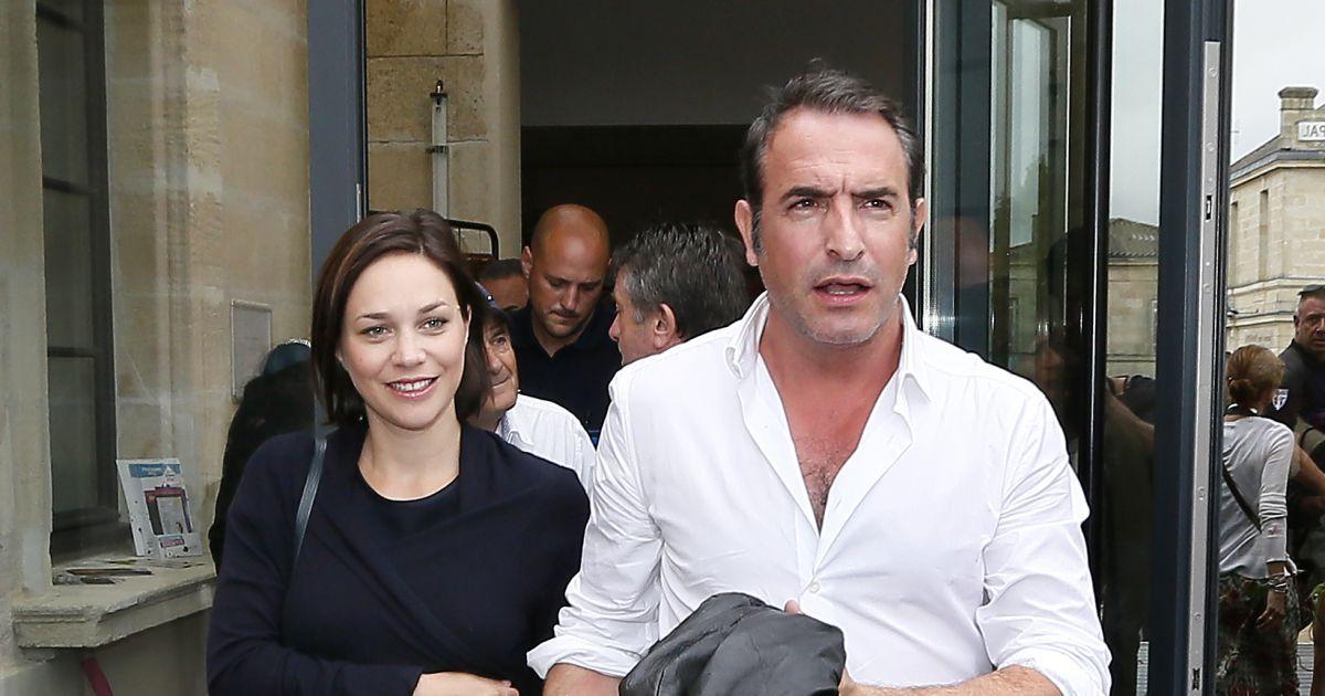 Jean dujardin et nathalie p chalat en couple lors de l for Famille dujardin