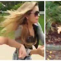 """Un YouTubeur fait polémique en piégeant sa copine mannequin avec des gags trop """"violents"""""""