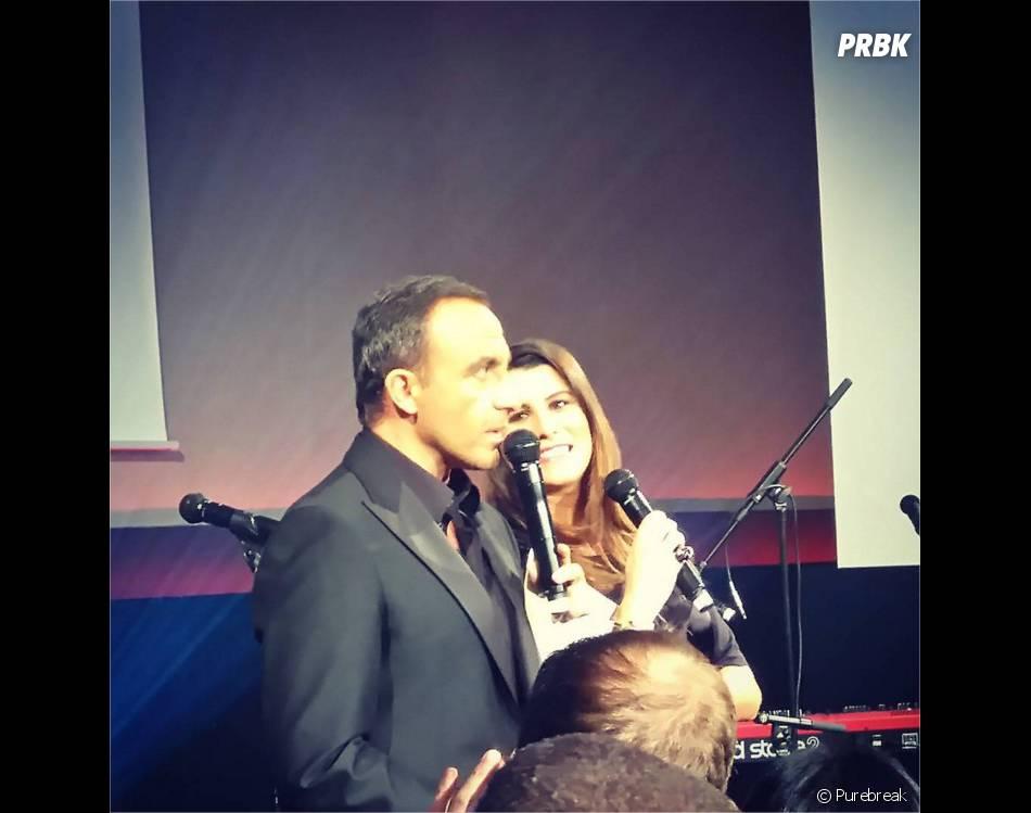 Nikos Aliagas et Karine Ferri dans The Voice 5 en 2016 sur TF1