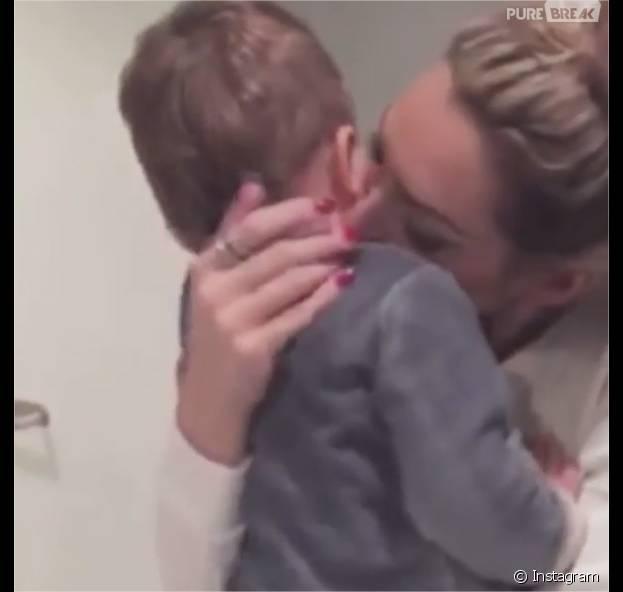 Emilie Nef Naf complice avec son fils Menzo sur Instagram, le 19 décembre 2015