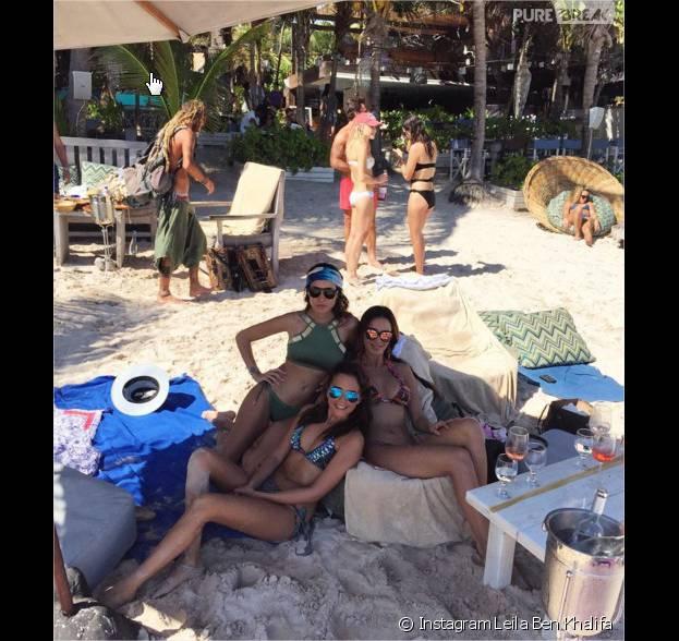Leila Ben Khalifa a fêté le nouvel an au Mexique avec ses amis