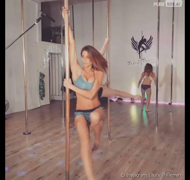 Laury Thilleman : initiation sexy au pole dance sur Instagram