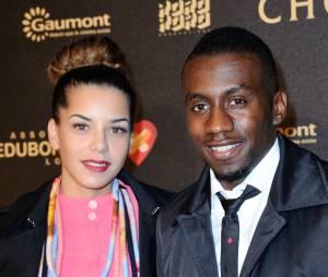 Blaise Matuidi et sa femme Isabelle Matuidi à l'avant-première du film Chocolat en faveur de l'association CéKeDuBonheur, le 1er février 2016 à Paris
