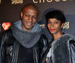 Harry Roselmack et sa femme Chrislaine Roselmack à l'avant-première du film Chocolat en faveur de l'association CéKeDuBonheur, le 1er février 2016 à Paris
