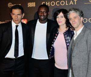 Roschdy Zem, Omar Sy, Clotilde Esme et James Thierée à l'avant-première du film Chocolat en faveur de l'association CéKeDuBonheur, le 1er février 2016 à Paris