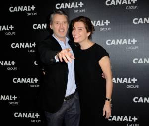 Antoine de Caunes et Daphné Roulier à la soirée du groupe Canal+, D8, D17 et iTélé à Paris, le 3 février 2016