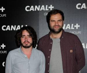 Eric et Quentin (Petit Journal) à la soirée du groupe Canal+, D8, D17 et iTélé à Paris, le 3 février 2016