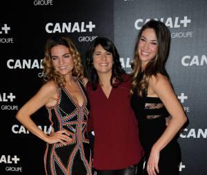Francesca Antoniotti, Estelle Denis et Clio Pajczer à la soirée du groupe Canal+, D8, D17 et iTélé à Paris, le 3 février 2016