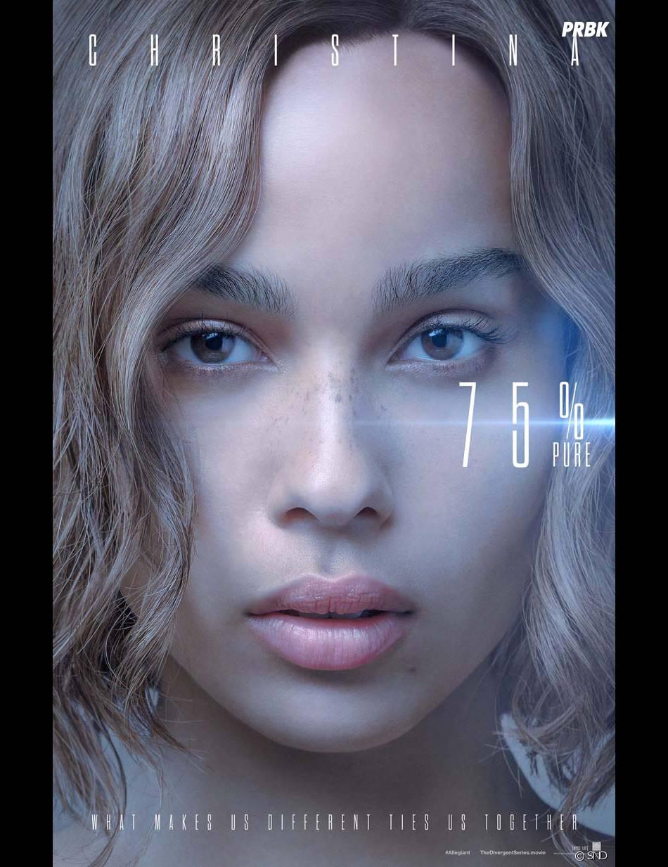 Divergente 3 : Zoe Kravitz (Christina) sur une affiche