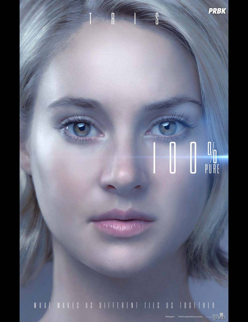 Divergente 3 : Shailene Woodley (Tris) sur une affiche