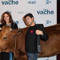 Jamel Debbouze, Mélissa Theuriau, Rayane Bensetti.... avec Jacqueline à l'avant-première de La Vache